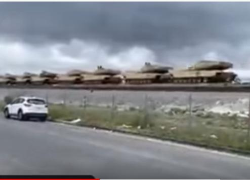 Martial Law? Massive Number of Tanks Transported By Trains Across California
