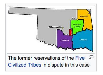 Supreme Court Rules Swath of Oklahoma is Native American Land for Federal Criminal Law
