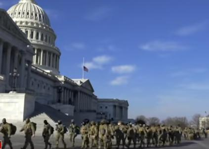 Washington, DC Under Lockdown, 25,000 Military Troops Deployed. Right-Wing  Threat Debunked.