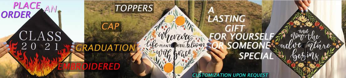 UniikPillows - Graduation Cap Toppers